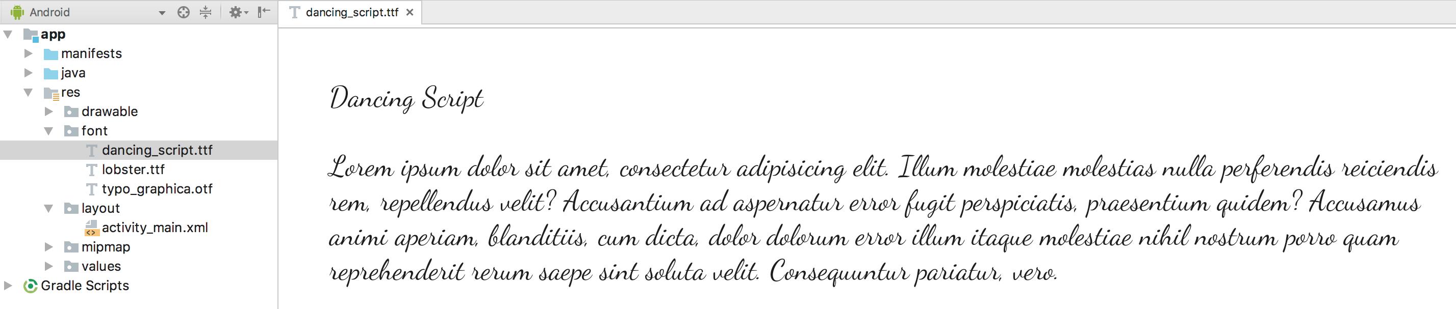 预览字体文件