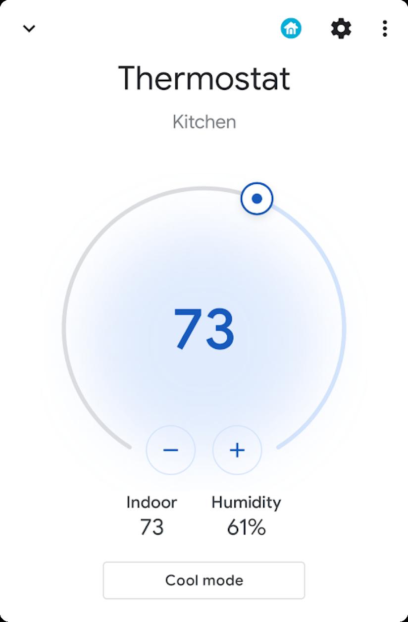 温度面板微件(已打开)