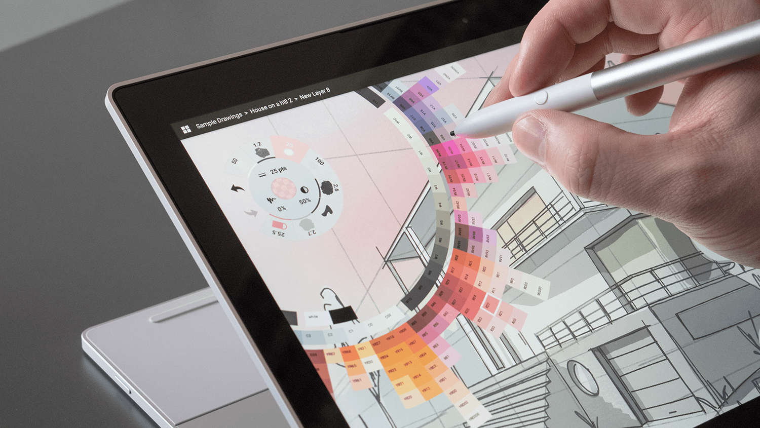 Screen interaction with stylus pen