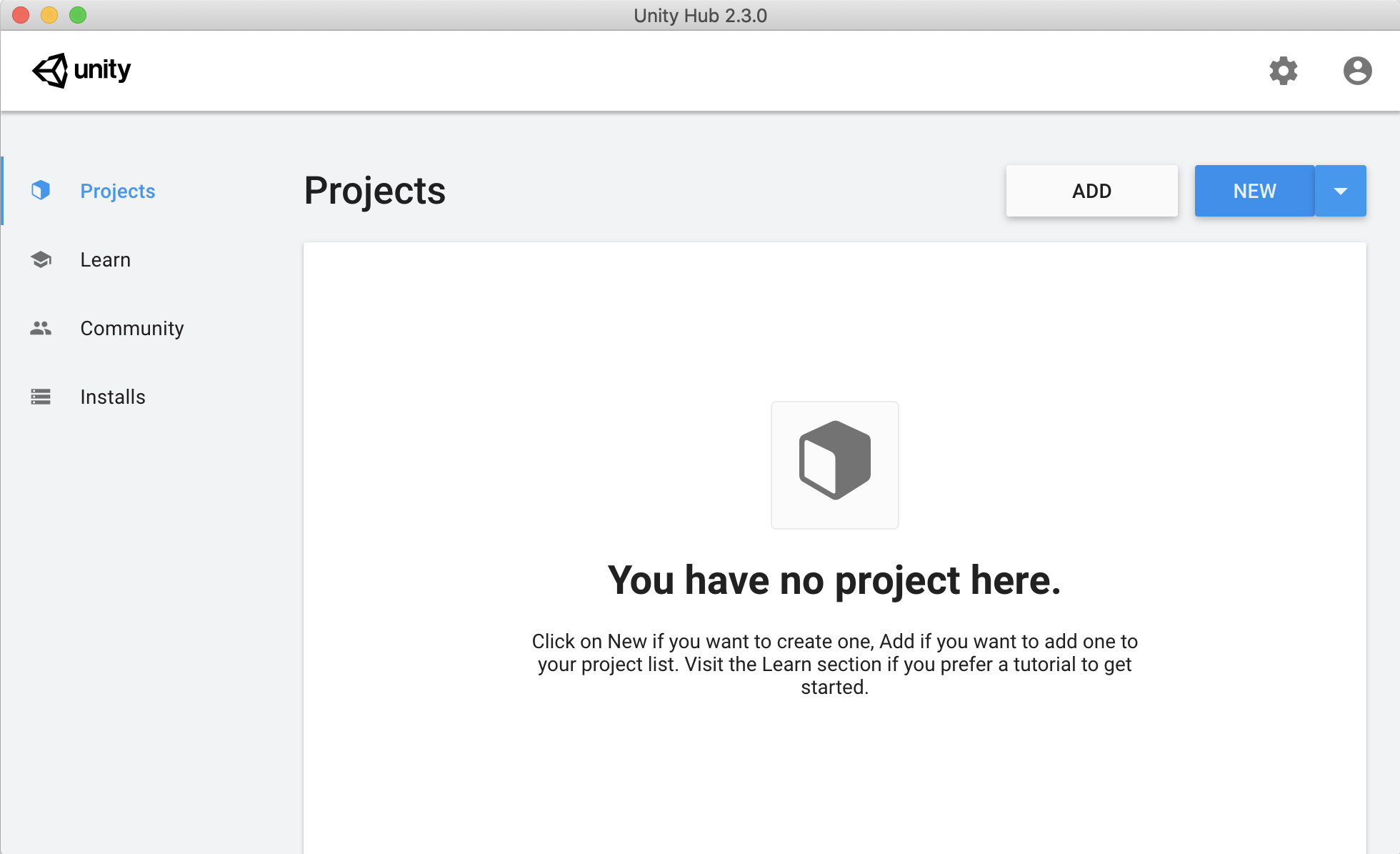 新しいプロジェクトを開始する