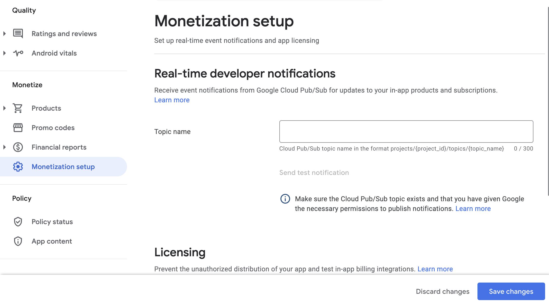 bagian notifikasi developer real time