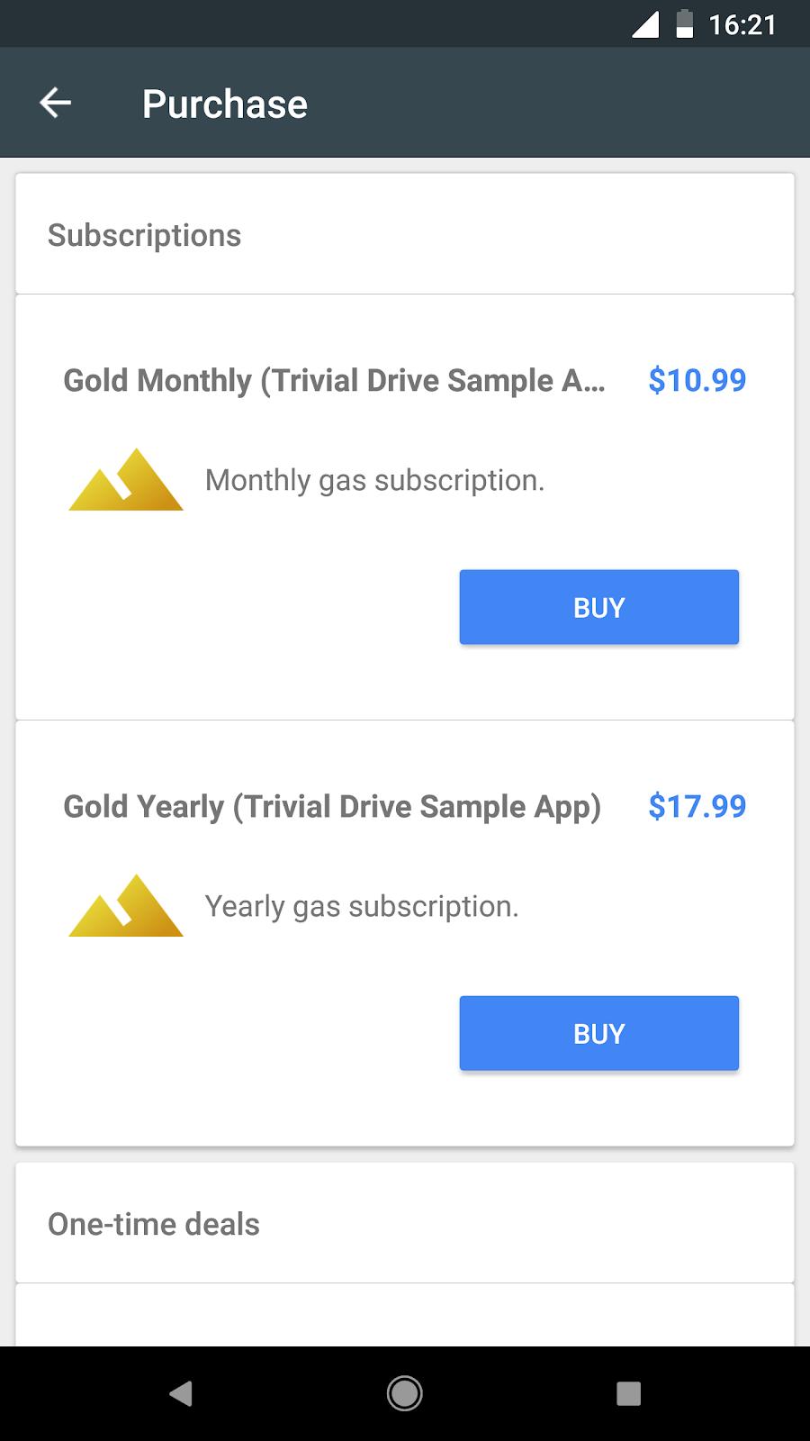 aplikasi ini berisi dua tingkat langganan