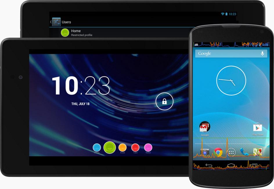 手机和平板电脑上的 Android 4.3