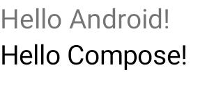 Dos elementos de texto ligeramente diferentes, uno sobre el otro