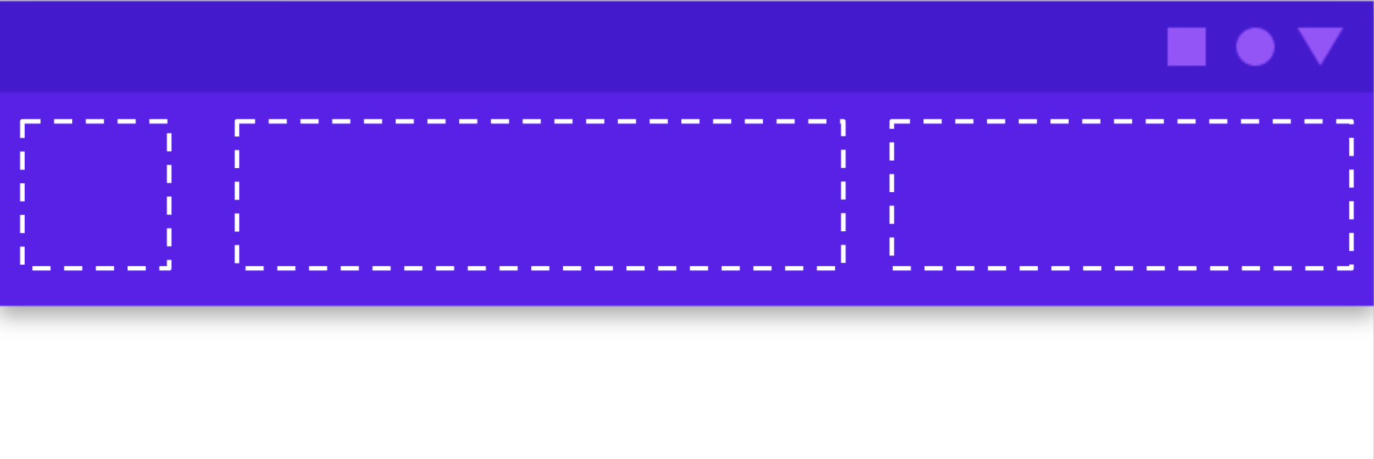 显示 Material Components 应用栏中的可用槽位的图表