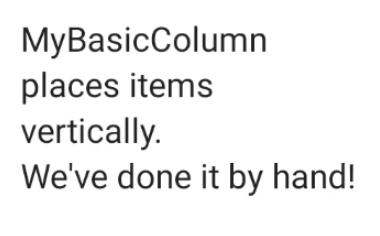 几个文本元素依次堆叠成一列。