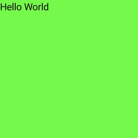 大きな緑の正方形の上隅にある小さなテキスト