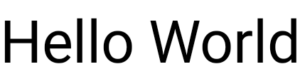 더 큰 글자로 표시된 'Hello World' 문구