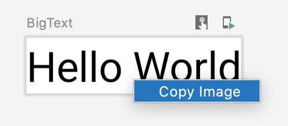 用户点击预览对象以将其作为图像复制。