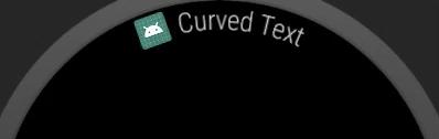 Android Wear 中的拱形文字示例