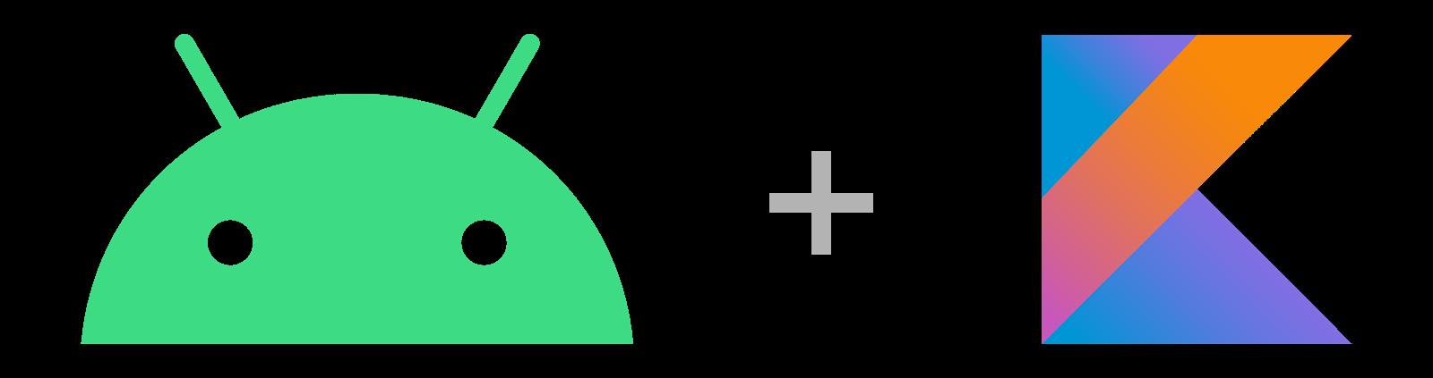Android 徽标和 Kotlin 徽标