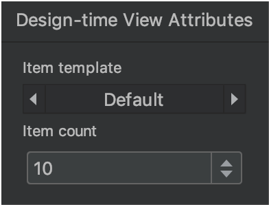 design time view attributes 窗口