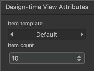 디자인 시간 뷰 속성 창