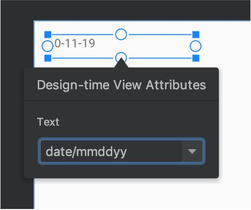 包含示例数据的 text view