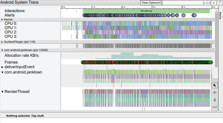 Screenshot laporan Systrace