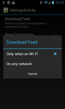 设置网络偏好设置