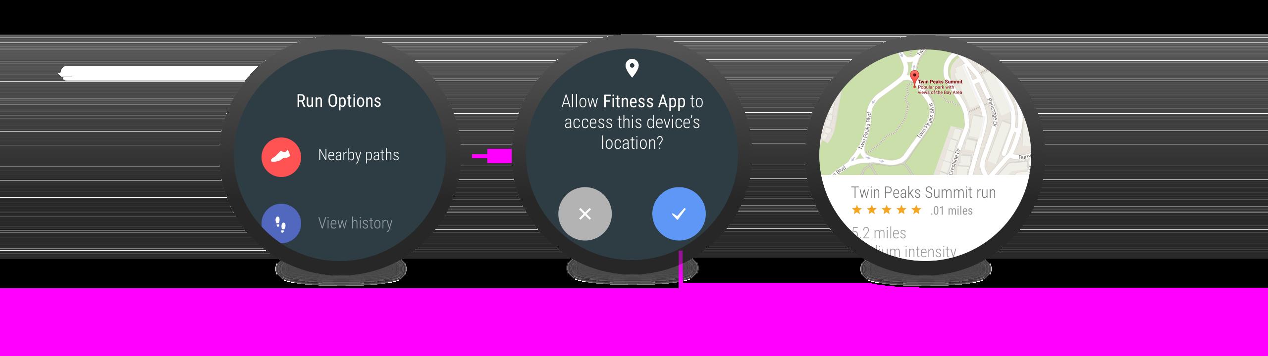 필요성이 명확한 경우에 앱이 권한을 요청합니다.