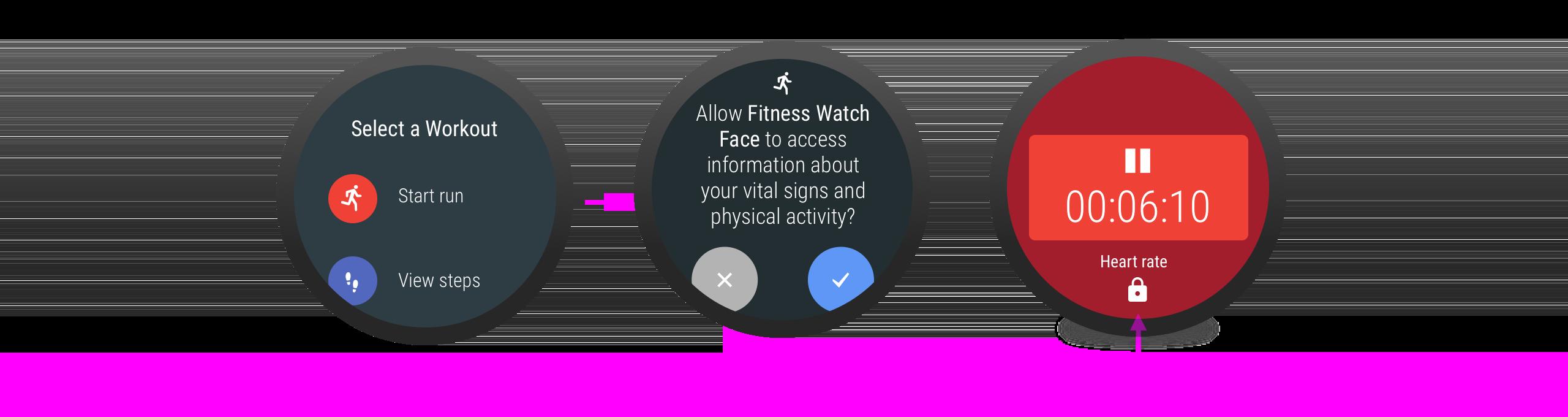 사용자가 권한을 거부하면 연결된 기능과 함께 자물쇠 아이콘이 표시됩니다.