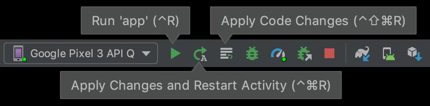Tombol toolbar untuk Apply Changes.