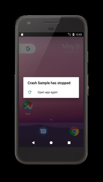Android 设备上的应用崩溃